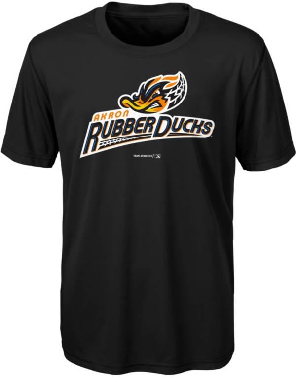 Majestic Youth Akron Rubberducks Black T-Shirt product image