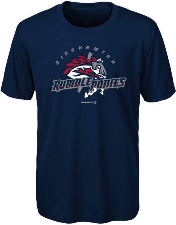 Majestic Youth Binghamton Rumble Ponies Navy T-Shirt product image