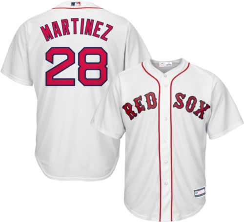 7d7f0107634 Youth Replica Boston Red Sox J.D. Martinez  28 Home White Jersey ...