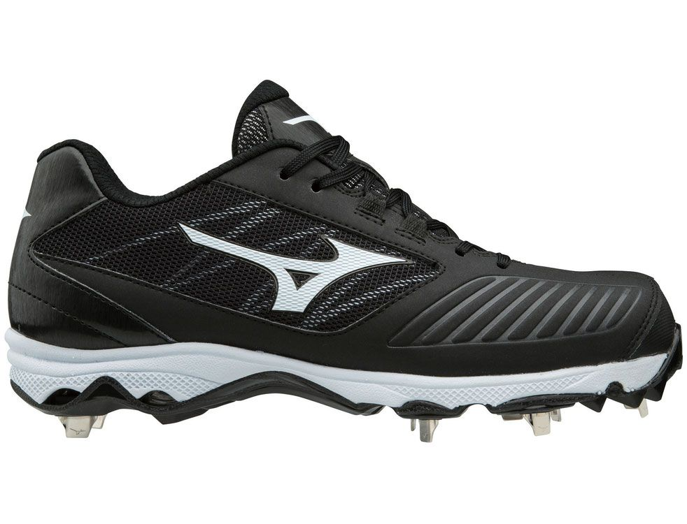white metal mizuno softball cleats