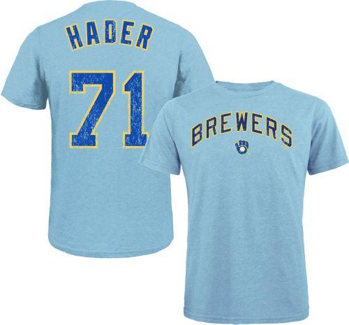 56e8510b2 Majestic Threads Men s Milwaukee Brewers Josh Hader Tri-Blend T ...