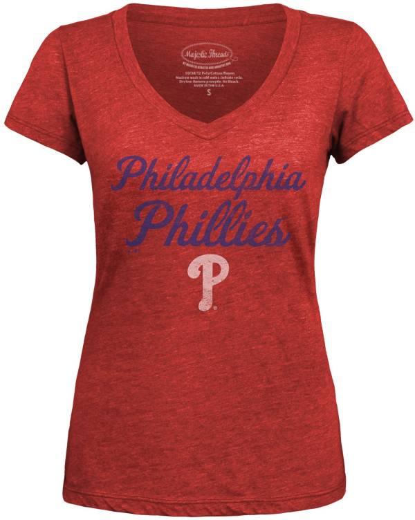 Majestic Threads Women's Philadelphia Phillies V-Neck T-Shirt product image