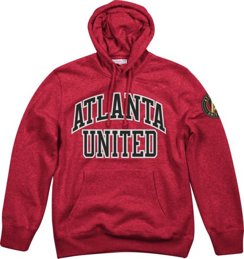 5c574f07d Mitchell & Ness Men's Atlanta United Playoff Win Red Pullover Hoodie ...