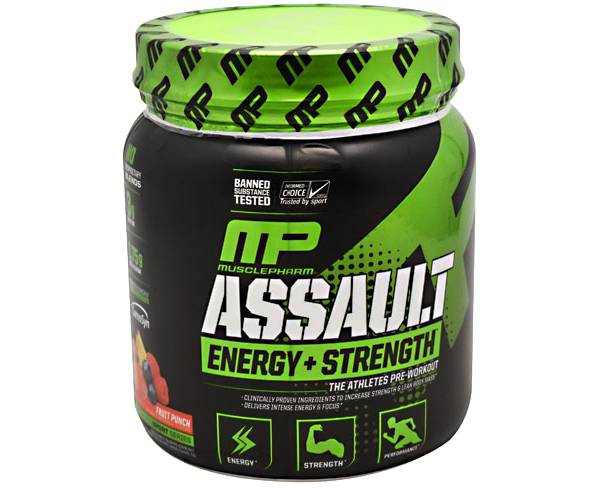 Muscle Pharm Assault Pre-Workout Fruit Punch 30 Servings product image