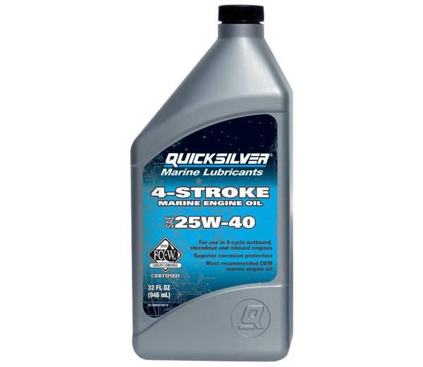 Mercury Quicksilver 4-Cycle 25W-40 Engine Oil – Quart product image