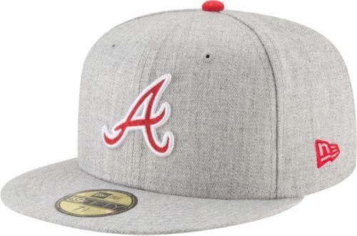 fb5c3429edd49 New Era Men s Atlanta Braves 59Fifty Heather Hype Fitted Hat. noImageFound.  Previous