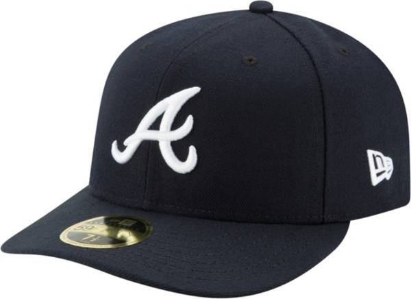 New Era Men's Atlanta Braves 59Fifty Road Navy Low Crown Fitted Hat product image