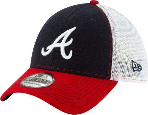 67760c7e0ac2a New Era Men s Atlanta Braves 39Thirty Practice Piece Stretch Fit Hat ...