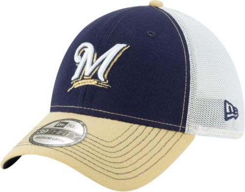 detailed look 2922a 863b6 New Era Men s Milwaukee Brewers 39Thirty Practice Piece Stretch Fit Hat.  noImageFound. Previous