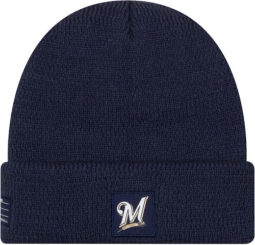 98cbeb185d6 New Era Men s Milwaukee Brewers Clubhouse Knit Hat