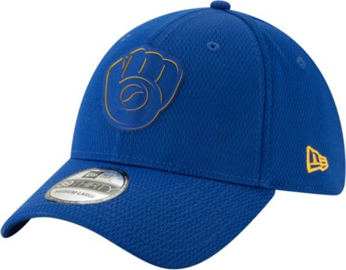 5ad80dd79c3 New Era Men s Milwaukee Brewers 39Thirty Clubhouse Royal Stretch Fit Hat.  noImageFound. Previous