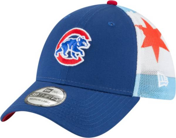 New Era Men's Chicago Cubs 39Thirty Flag Mesh Stretch Fit Hat product image
