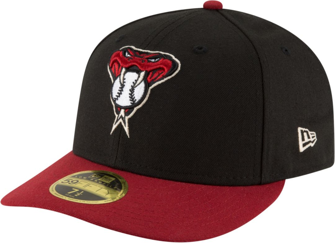0b86c3d9d New Era Men's Arizona Diamondbacks 59Fifty Alternate Black Low Crown Fitted  Hat