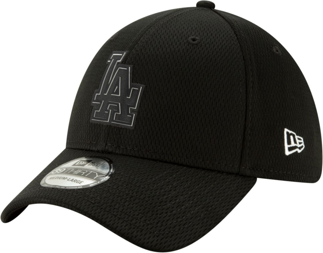 new products 98e66 c2a37 New Era Men s Los Angeles Dodgers 39Thirty Clubhouse Black Stretch Fit Hat.  noImageFound. Previous