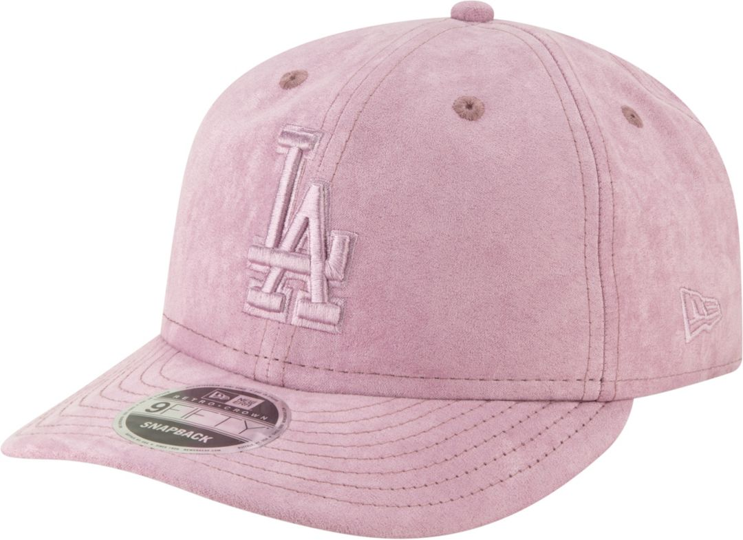 70a2fd42714340 New Era Men's Los Angeles Dodgers 9Fifty Suede Retro Pink Adjustable ...