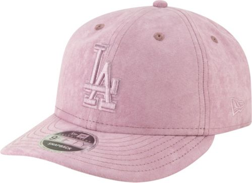 31e51cdaafae5 New Era Men s Los Angeles Dodgers 9Fifty Suede Retro Pink Adjustable Snapback  Hat. noImageFound. Previous