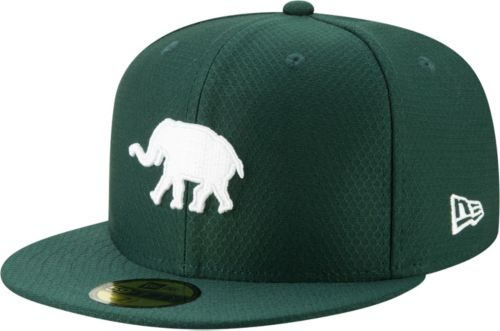 93fa72ed00f8a New Era Men s Oakland Athletics 59Fifty HexTech Batting Practice Fitted Hat