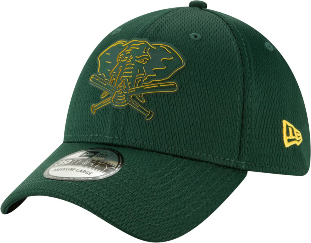 timeless design ac2d8 33754 New Era Men s Oakland Athletics 39Thirty Clubhouse Green Stretch Fit Hat.  noImageFound. Previous. 1