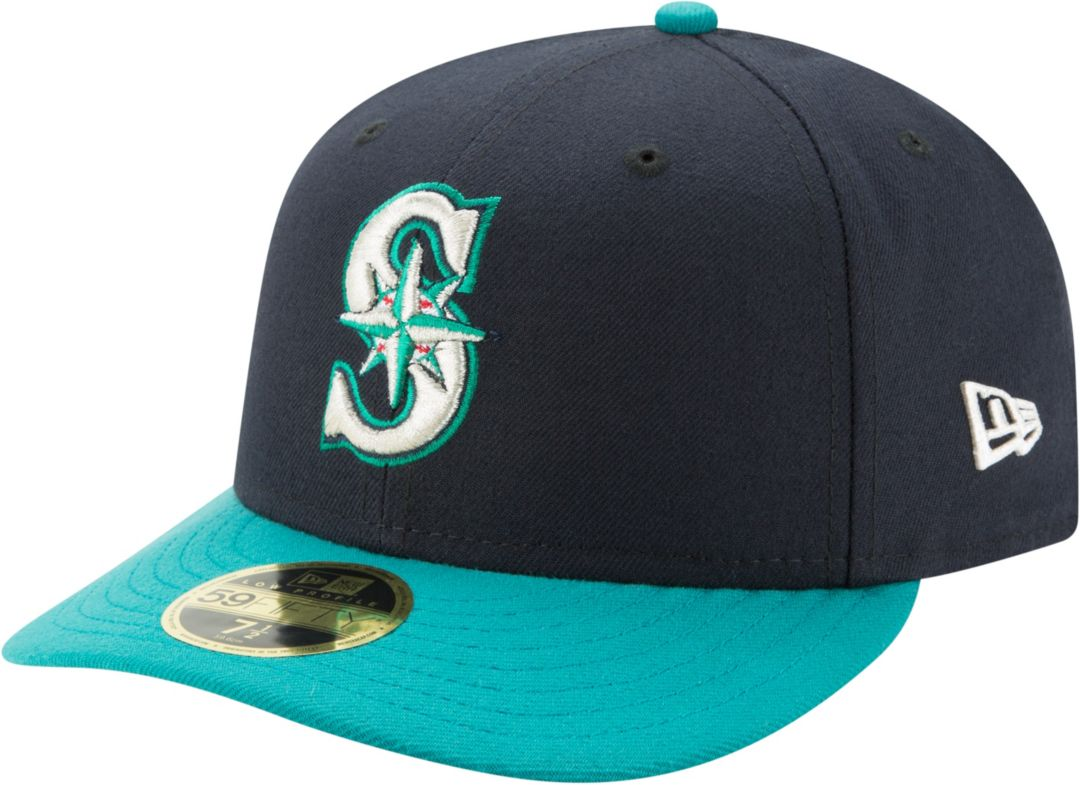 new concept 522c0 7fde7 New Era Men s Seattle Mariners 59Fifty Alternate Navy Low Crown Fitted Hat.  noImageFound. Previous