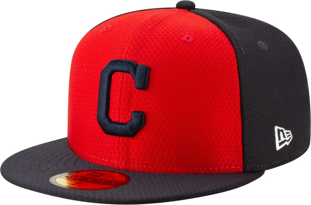 the latest 8e21e 27f11 New Era Men's Cleveland Indians 59Fifty HexTech Batting Practice Fitted Hat
