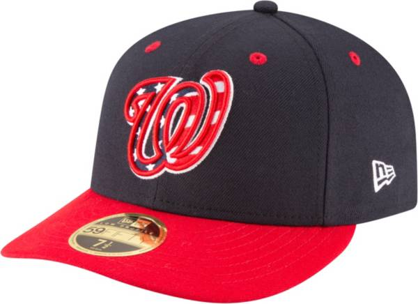 New Era Men's Washington Nationals 59Fifty Alternate Red Low Crown Fitted Hat product image