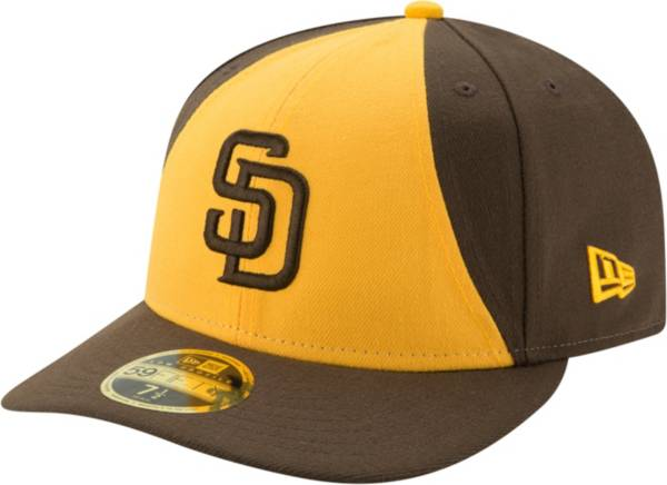 New Era Men's San Diego Padres 59Fifty Alternate Yellow Low Crown Fitted Hat product image