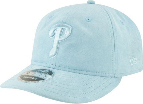 0a8cbaa94411a New Era Men s Philadelphia Phillies 9Fifty Suede Retro Blue Adjustable Snapback  Hat
