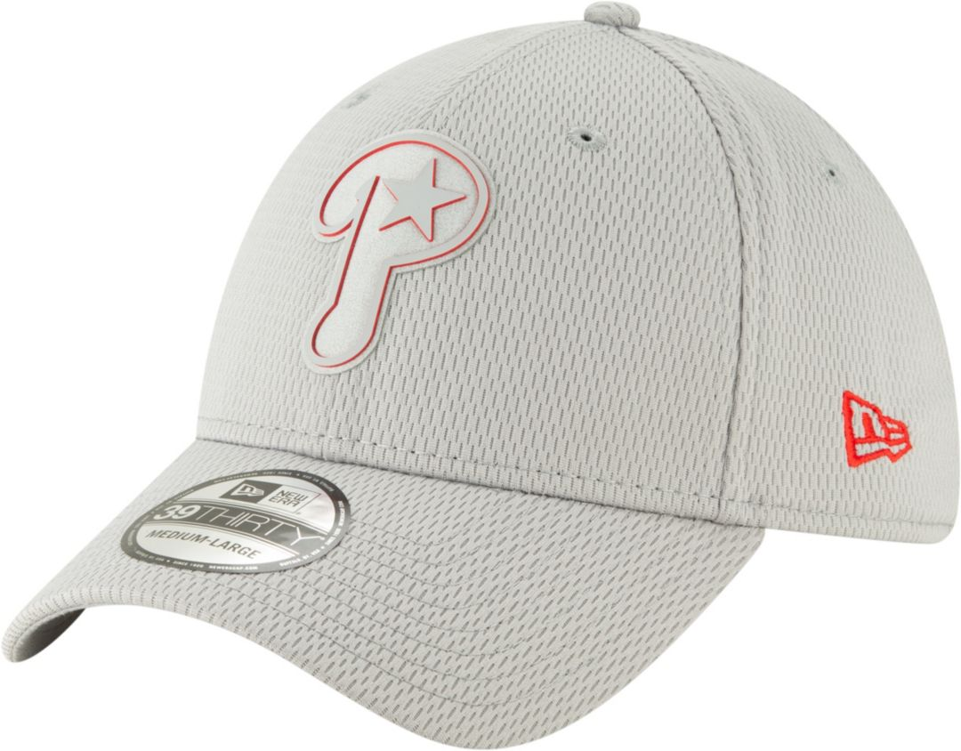 af8b9f2eaac04d New Era Men's Philadelphia Phillies 39Thirty Clubhouse Grey Stretch Fit  Hat. noImageFound. Previous