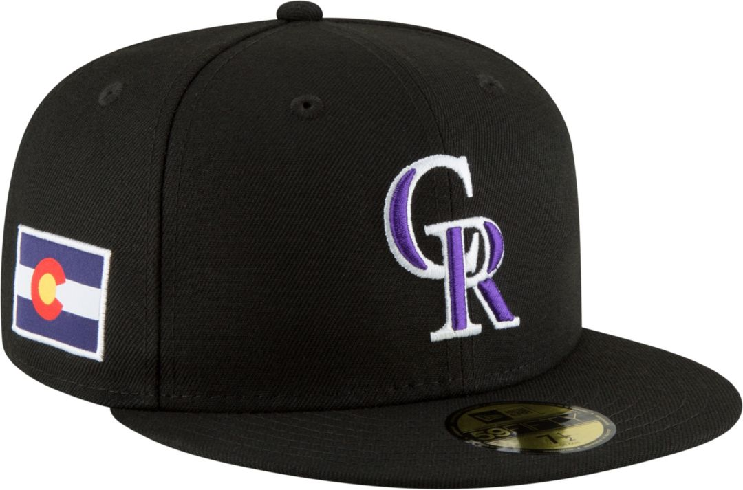 ca65803b New Era Men's Colorado Rockies 59Fifty Fitted Hat w/ State Flag Patch