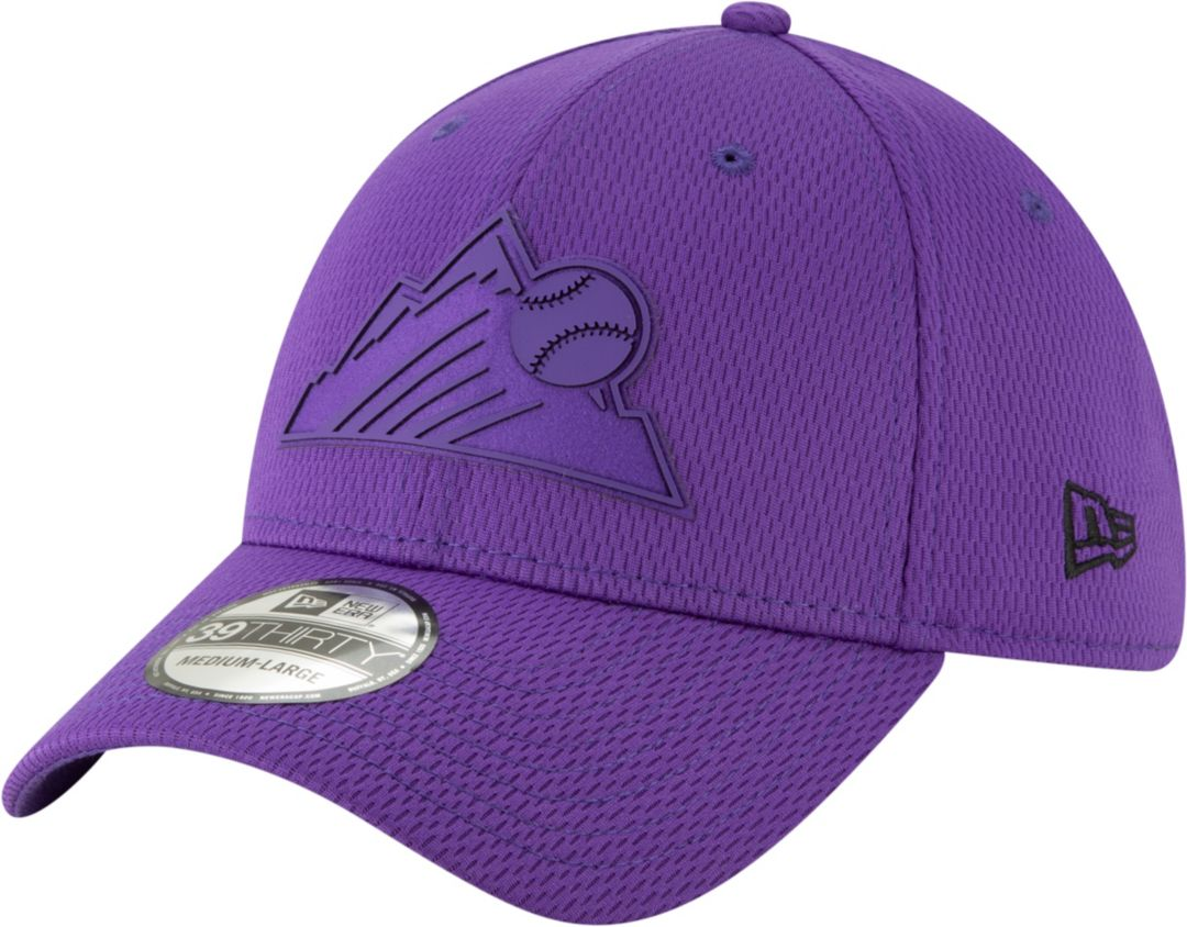 huge discount 06d21 cd5d8 New Era Men s Colorado Rockies 39Thirty Clubhouse Purple Stretch Fit Hat.  noImageFound. Previous