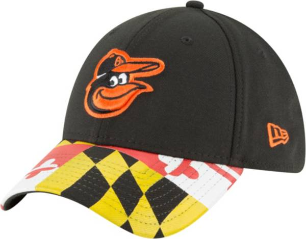New Era Men's Baltimore Orioles 39Thirty Flag Brim Stretch Fit Hat product image