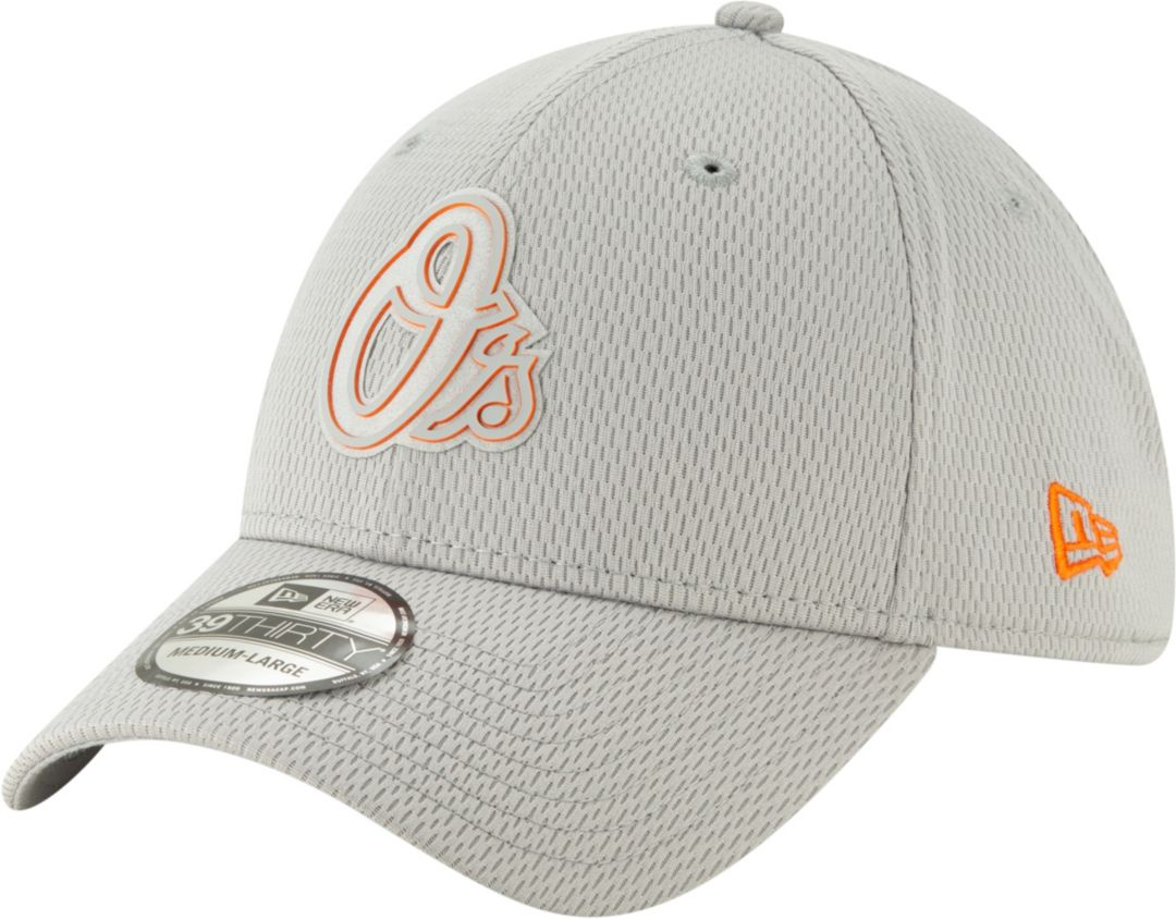 wholesale dealer d69ef 5eadb New Era Men s Baltimore Orioles 39Thirty Clubhouse Grey Stretch Fit Hat.  noImageFound. Previous