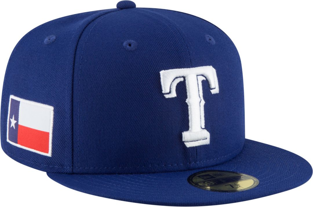 sports shoes eff91 a3967 New Era Men s Texas Rangers 59Fifty Royal Fitted Hat w  State Flag ...