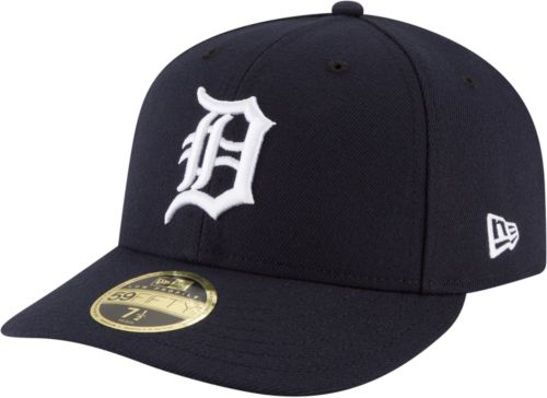 9c7da3eb4ce New Era Men s Detroit Tigers 59Fifty Road Navy Low Crown Fitted Hat.  noImageFound. Previous