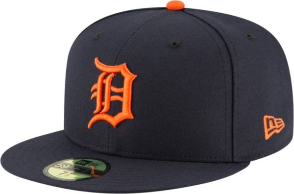 New Era Men's Detroit Tigers 59Fifty Road Navy Authentic Hat product image