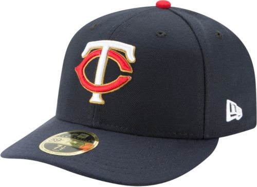 399eb33fc2c New Era Men s Minnesota Twins 59Fifty Alternate Navy Low Crown Fitted Hat.  noImageFound. Previous