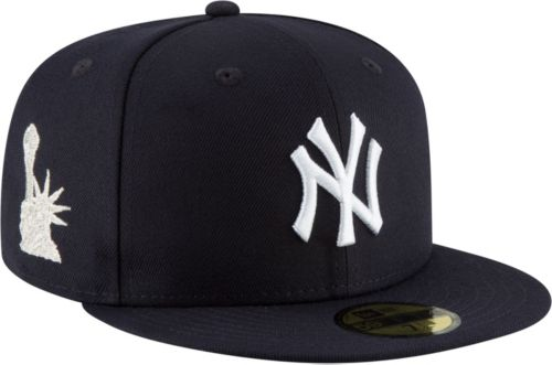 New Era Men s New York Yankees 59Fifty Navy Fitted Hat w  Statue of Liberty  Patch. noImageFound. Previous bf554ada9ea7