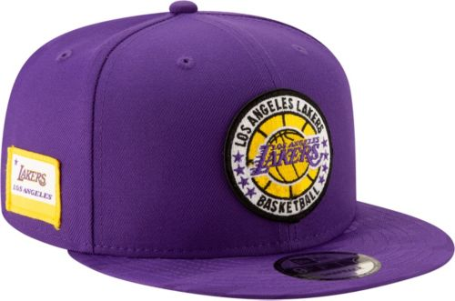 New Era Men s Los Angeles Lakers 9Fifty On-Court Adjustable Snapback ... 8b7128f95d2