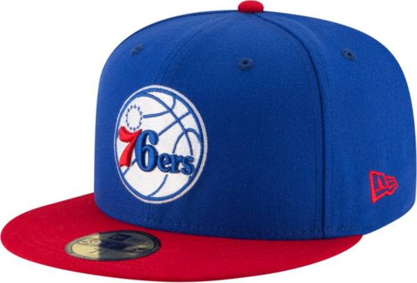 New Era Men's Philadelpia 76ers 59Fifty Royal/Red Fitted Hat product image