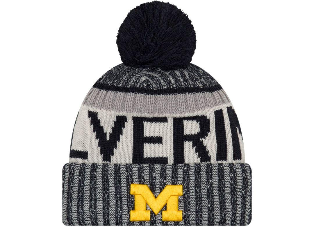 check out 8c7d9 d73d8 New Era Men s Michigan Wolverines Blue Sport Knit Beanie. noImageFound.  Previous