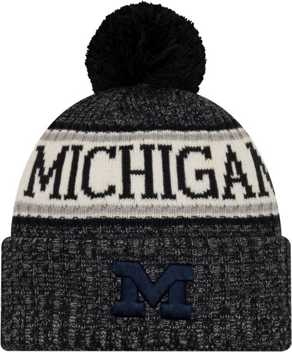 New Era Men's Michigan Wolverines Blue Sport Knit Beanie product image