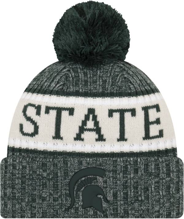 New Era Men's Michigan State Spartans Green Sport Knit Beanie product image