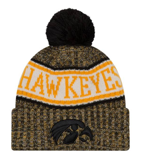 New Era Men's Iowa Hawkeyes Sport Knit Black Beanie product image