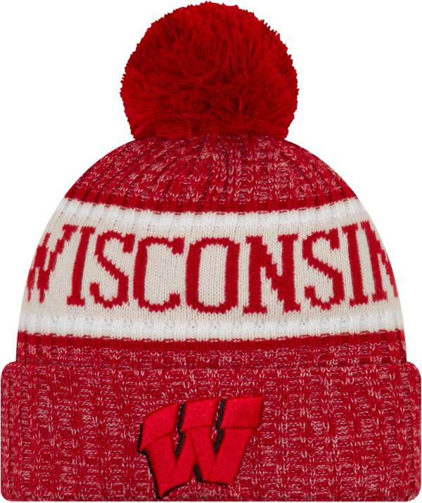 New Era Men's Wisconsin Badgers Red Sport Knit Beanie product image
