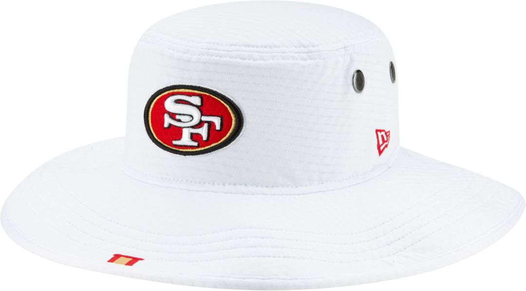 c1aa84f4 New Era Men's San Francisco 49ers Sideline Training Camp Panama White  Bucket Hat. noImageFound. Previous