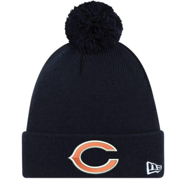 New Era Men's Chicago Bears Navy Cuffed Pom Knit product image