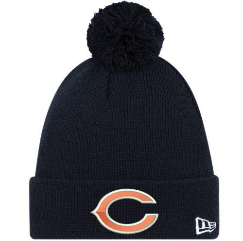 ffbd7f3628a71e ... hat 2621d 57d71; inexpensive new era mens chicago bears navy cuffed pom  knit dicks sporting goods cb919 02332