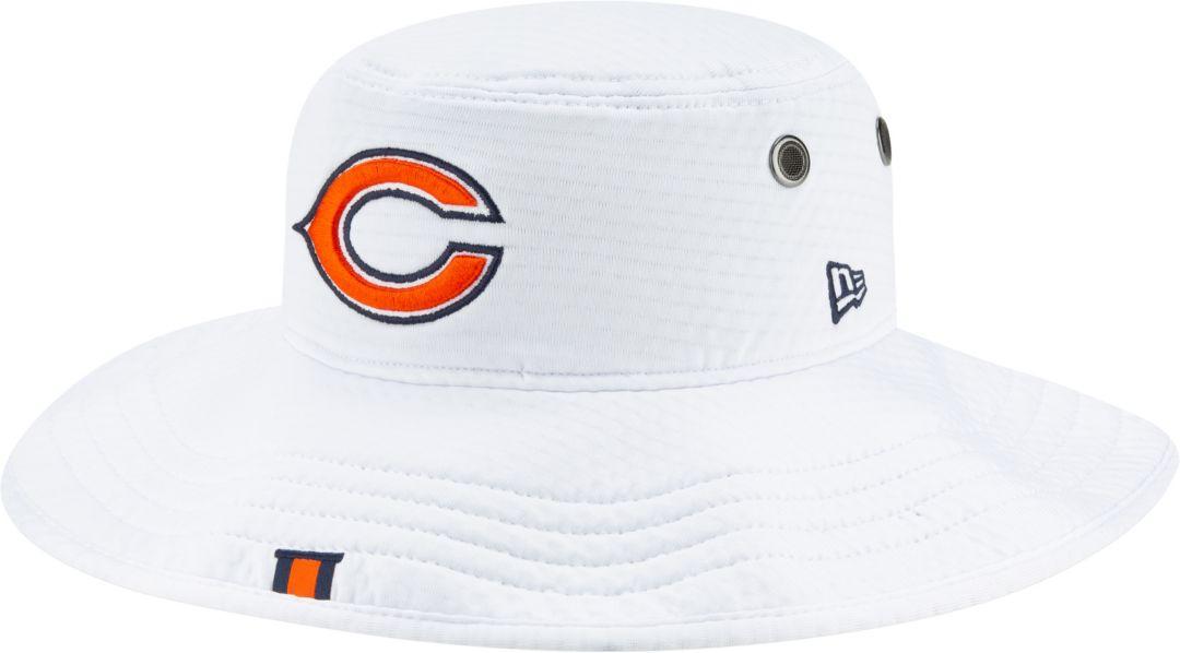9ad7b233dda302 New Era Men's Chicago Bears Sideline Training Camp Panama White Bucket Hat