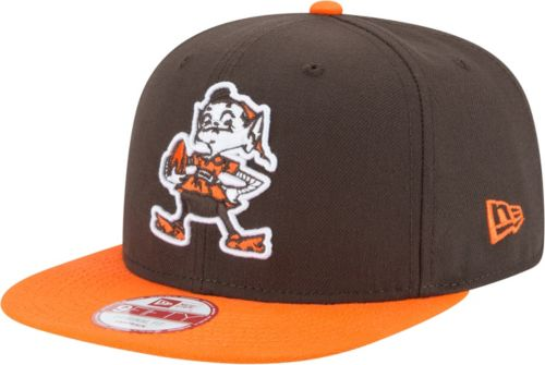 140e02bb1 New Era Men s Cleveland Browns Legacy 9Fifty Brown Adjustable Hat.  noImageFound. Previous