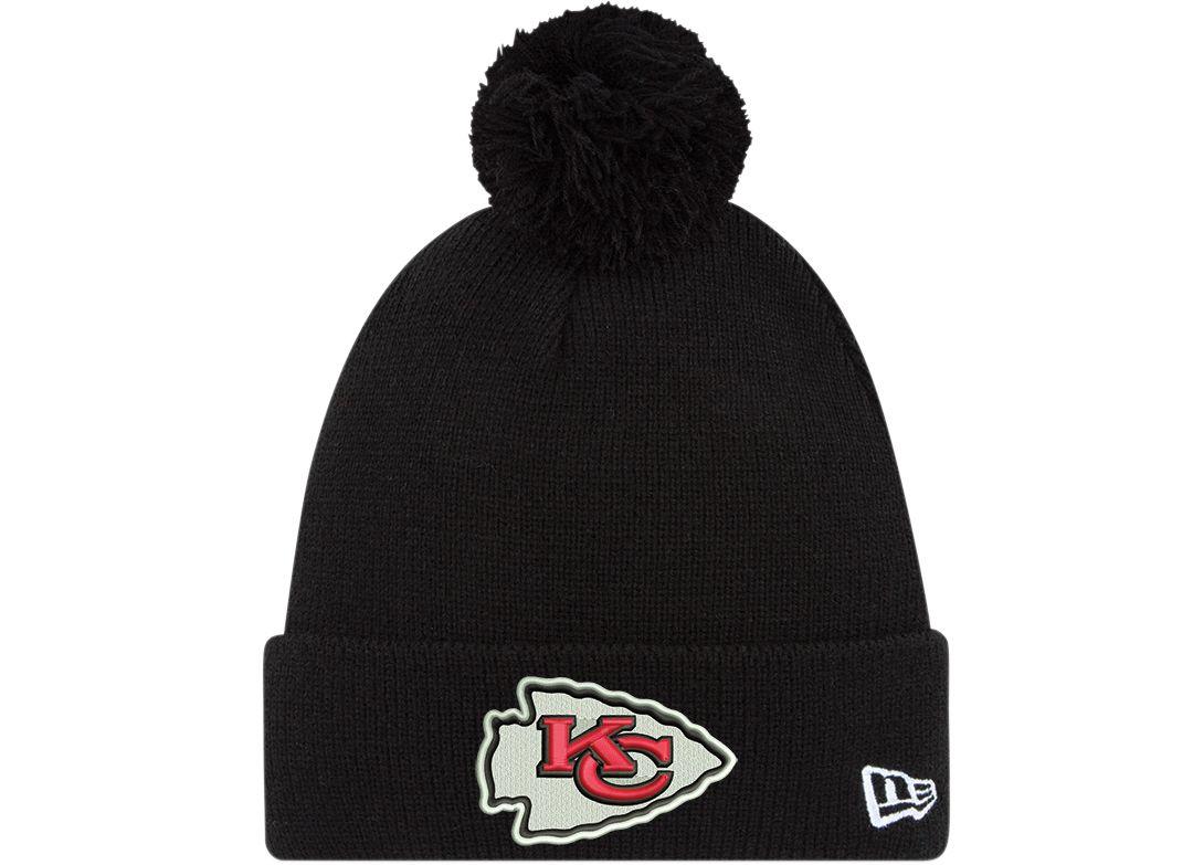 san francisco 7f478 d9aad New Era Men s Kansas City Chiefs Black Cuffed Pom Knit. noImageFound.  Previous